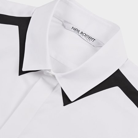 Neil Barrett Thunderbolt Classic Shirt - White/Black