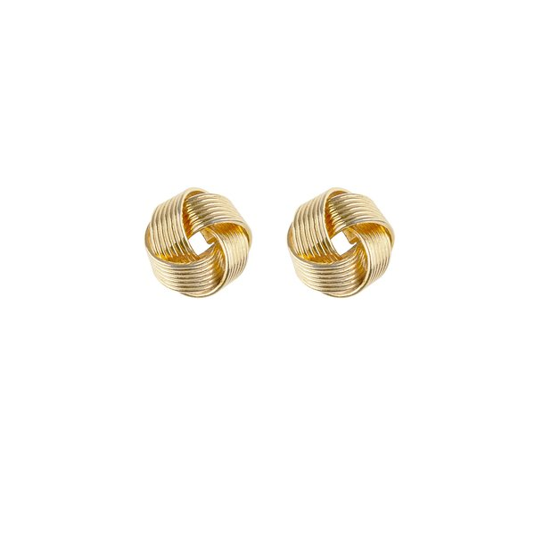 Clio Vintage Lady of the Isles Knot Earrings - gold