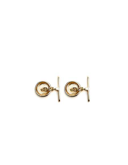 Maison Margiela Round Cufflinks - Golden brass
