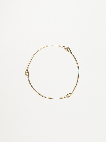 Ladyluna Knot Bangle in Gold