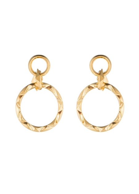 Third Crown Prizm Drop Earrings - 18K Gold Plated Brass