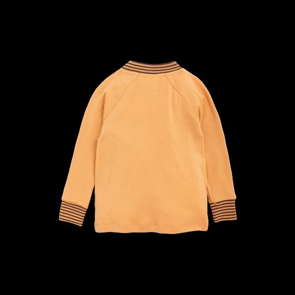 Kids Mini Rodini Oh La La Wool Long Sleeve Raglan Tee - Beige