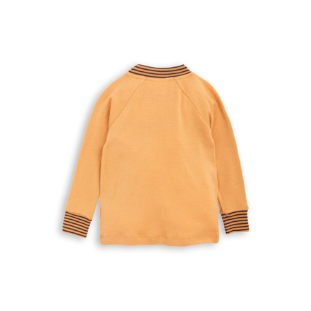 Kids Mini Rodini Oh La La Wool Long Sleeve Raglan Tee - Beige