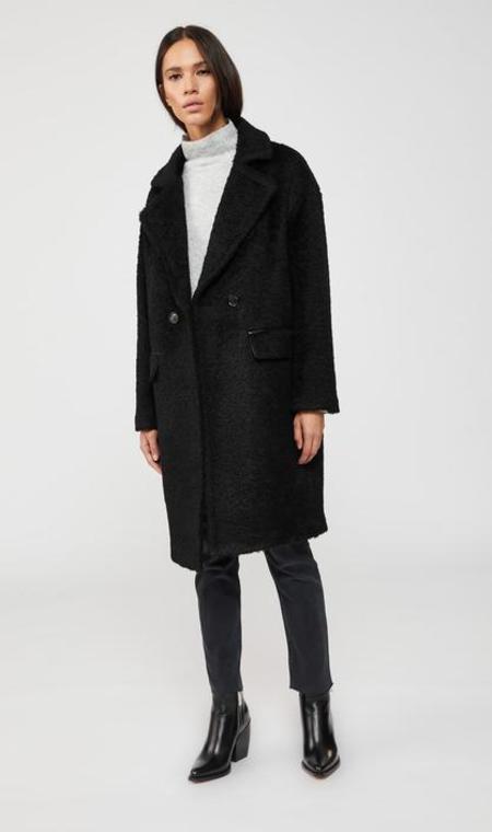 Mackage Eve Drop Shoulder Wool Coat - Black