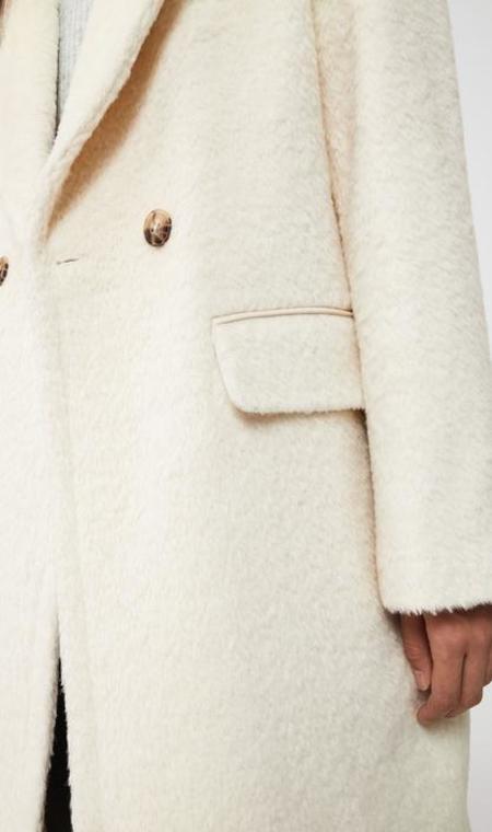 Mackage Eve Drop Shoulder Wool Coat - Off White