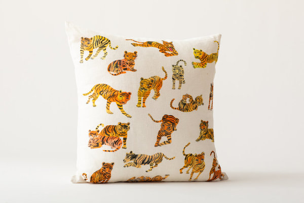 Olivia Wendel Pillow - Wild Tigers