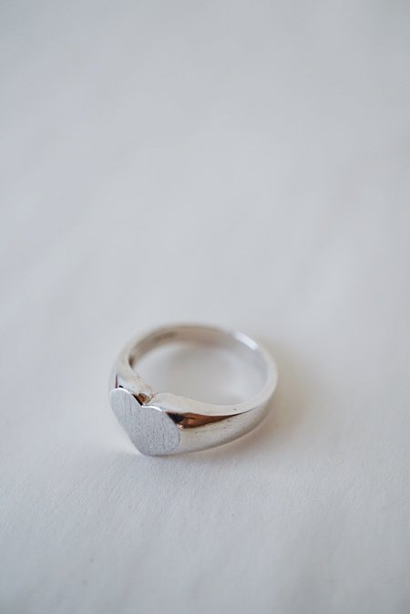 Foe and dear Heart Ring - Sterling Silver