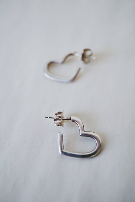 Foe and dear Heart Studs - Sterling Silver