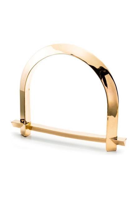 Third Crown Arc Bangle - 18K Gold Plated Brass