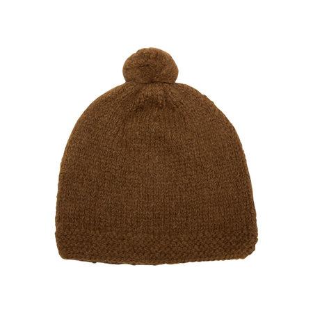 Petit Kolibri DAD POMPOM HAT - CAMEL