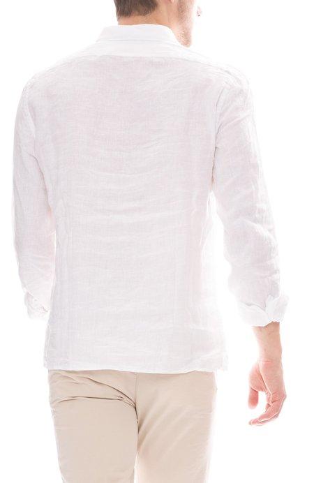 04651/ Relaxed Linen Sport Shirt - Sky