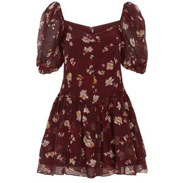 CAROLINE CONSTAS Quinn Dress - Bordeaux