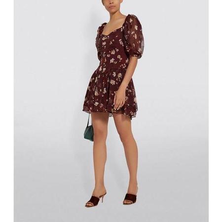 CAROLINE CONSTAS Quinn Dress - Bordeaux
