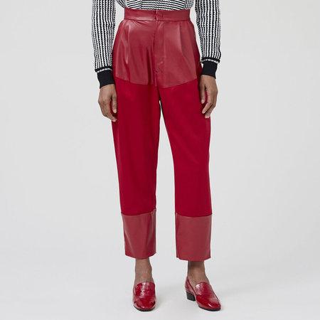 Rachel Comey Dandy Pant - Crimson Wool Sateen