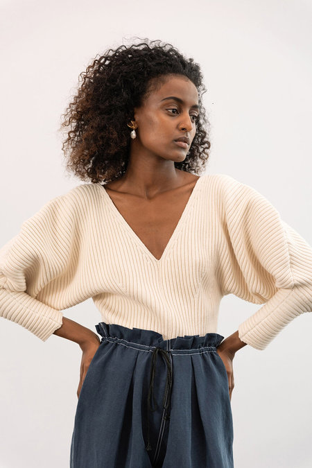 Mara Hoffman Olla Sweater - Cream