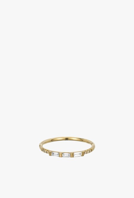Jennie Kwon Designs 3 Baguette Equilibrium Ring