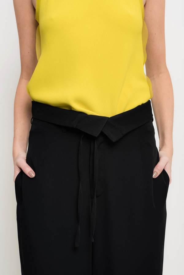 Uma Raquel Davidowicz Arkansas Wide Leg Crepe Pants - Black