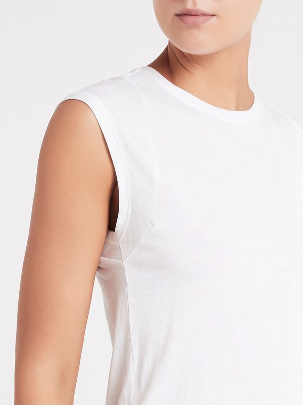 FRAME Denim Le Mid Rise Muscle Tank - Blanc