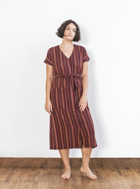 Ace & Jig Gallo Dress - Garnet