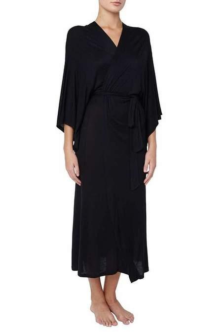 Eberjey Colette Kimono Robe - Black