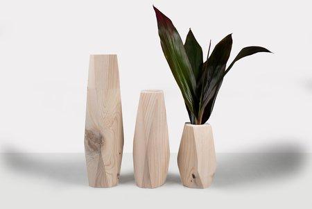 Botanicool Wooden Vase - White Washed