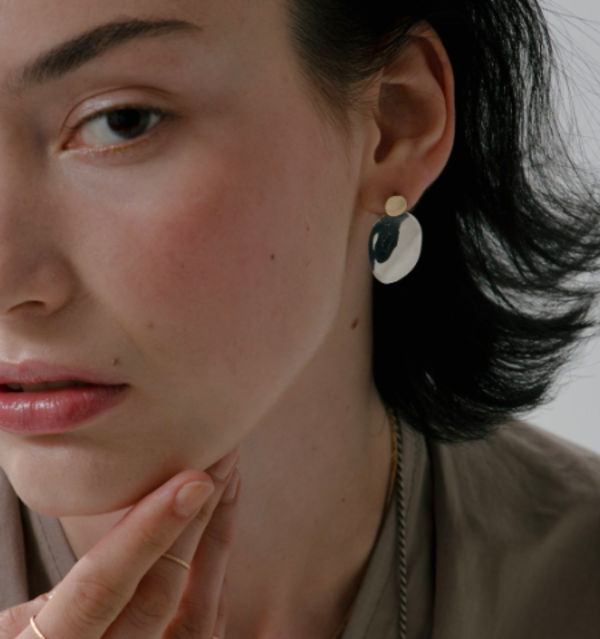 Blanca Monrós Gómez elise drop earrings - 14K Yellow Gold