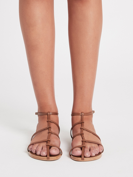 Camilla and Marc Bailey Flat Sandal - Tan