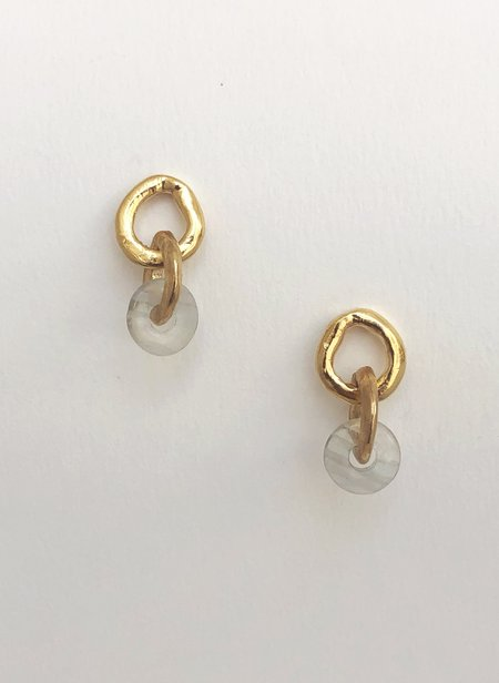 Mercurial NYC Flourite Chain Link Earrings