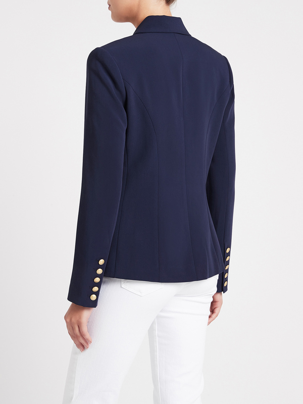 L'agence Kenzie Double Breasted Blazer - Navy