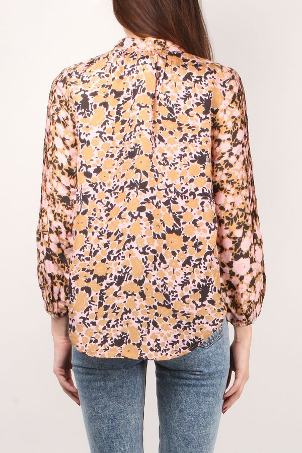 Apiece Apart Core Bravo Blouse - Pink Floral