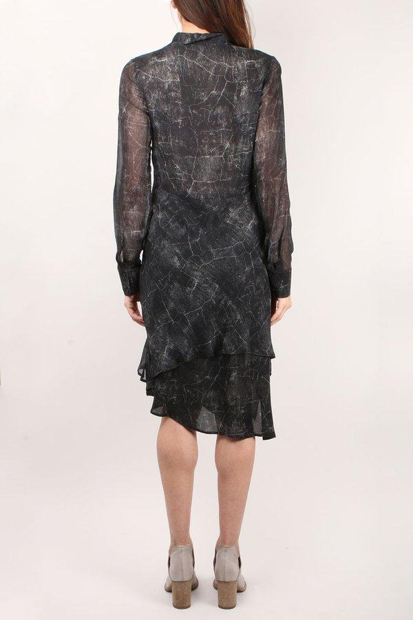 Go by Gosilk Go Flirty Shirt Dress - Marble Print