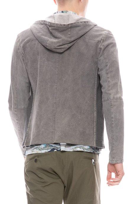 GIMOS Lightweight Leather Zip Hoodie