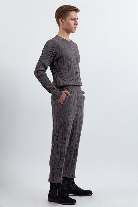 Julian Zigerli Wood Knit Sweater - Grey