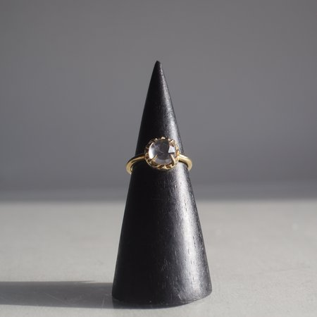 Angela Monaco Matrix Halo Ring with Moonstone - gold vermeil