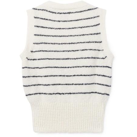 Kids bobo choses knitted vest - white