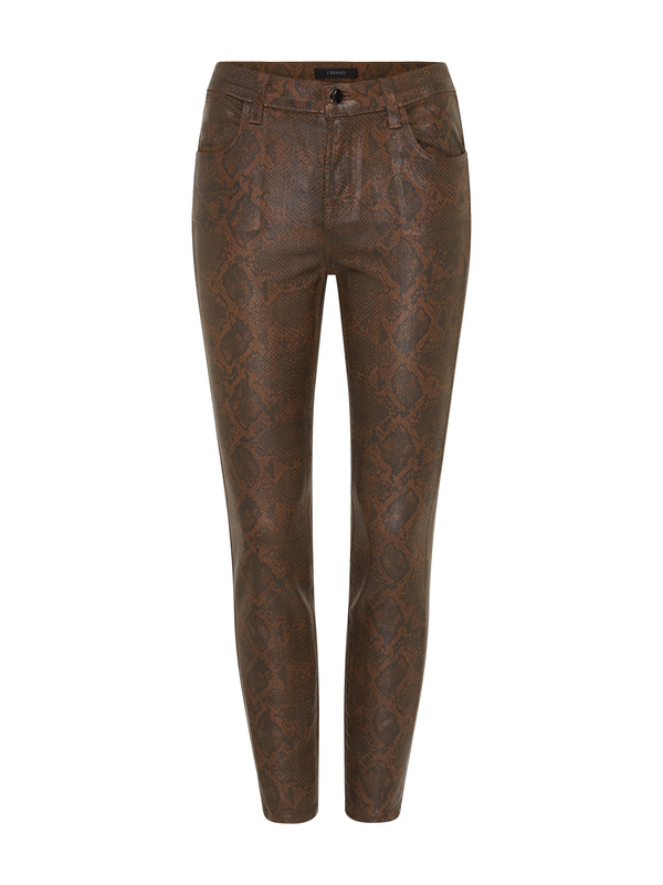 J Brand Alana High Rise Crop Skinny Jean - Dark Eclair