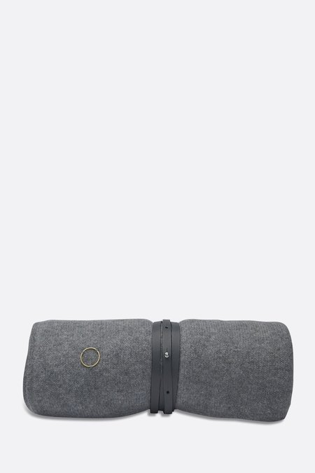 Oyuna Cashmere Travel Blanket Wrap - GREY