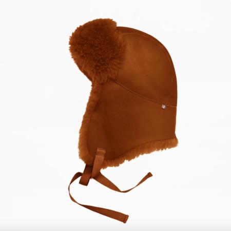 Toasties Leather Aviator Hat - Teddy Brown
