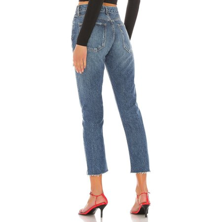AGOLDE Riley Crop High Rise Straight - Disguise