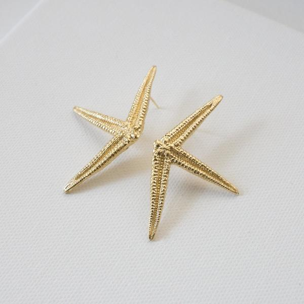 Merewif Estrella Earrings - Gold plated brass