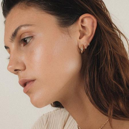 Merewif Link I Studs - gold plated brass