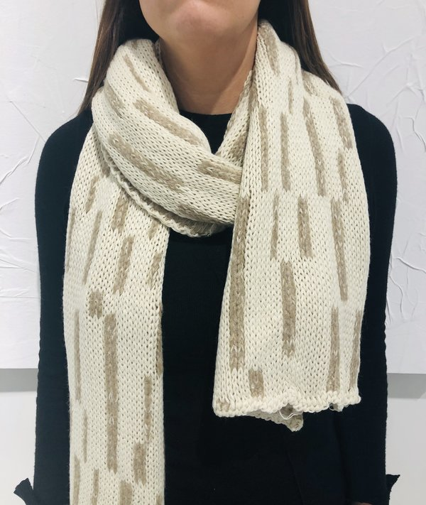 Uma Raquel Davidowicz Vietna Double Face Knitted Scarf - Off White