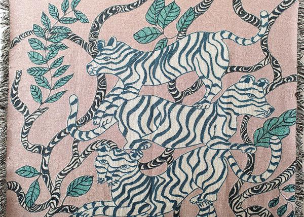 Olivia Wendel Landscape Blanket - Lavender Tiger
