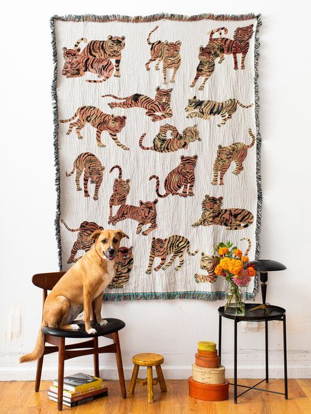 Olivia Wendel Playful Tigers Blanket