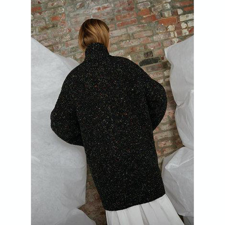 Whit Cocoon Coat - Rainbow Speckle/Black/Multi