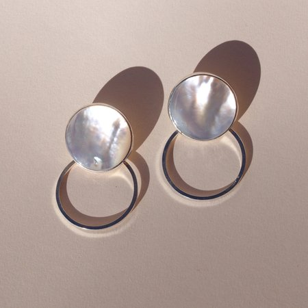 Octave Jewelry Motion Hoop Earrings - Mother of Pearl