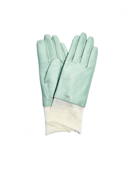 Undercover Leather Gloves - Light Green