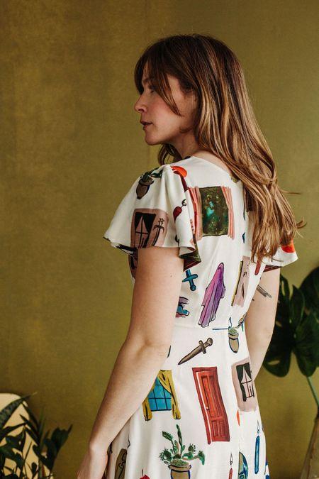 Samantha Pleet Noble Dress - Window Print