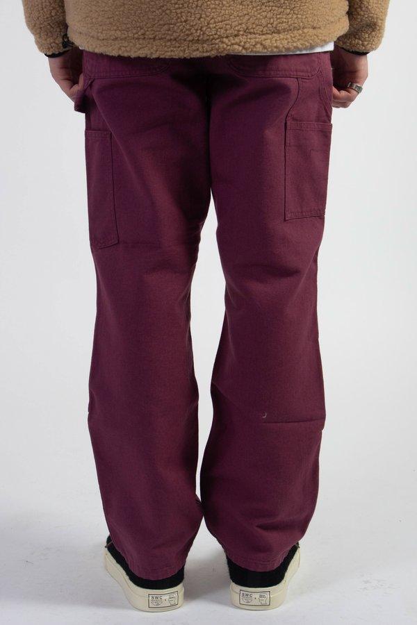 CARHARTT WIP Organic Cotton Double Knee Pant - Dusty Fuchsia