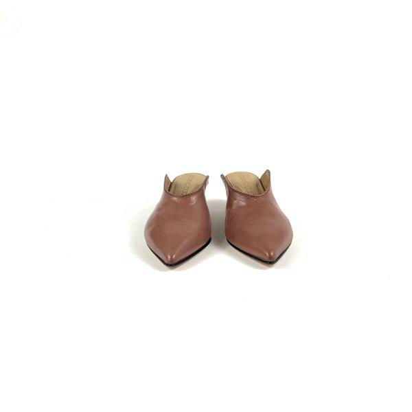 Pomme D'Or leather heel - antique pink